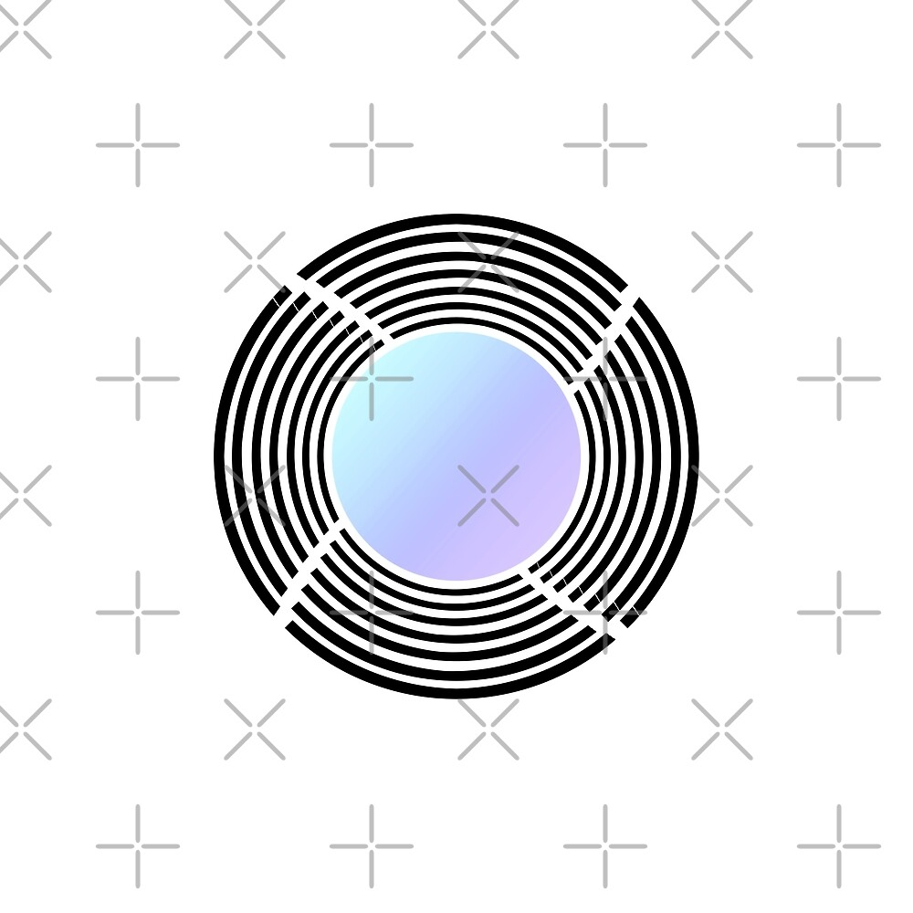 Camera Lens Minimal Geometric Design by Daniel Ward
