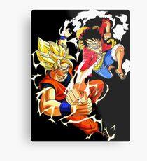 One Piece & Dragon Boll Metal Print