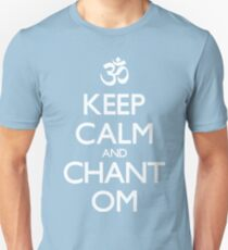 """Aum symbol and """"Keep Calm and Chant Om"""" sign T-Shirt"""