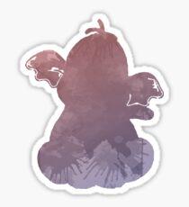 Elephant Inspired Silhouette Sticker
