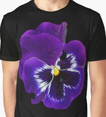 Pansy Purple Flower Beautiful Meditation Yoga Peace Garden Graphic T-Shirt