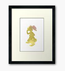 Rabbit Inspired Silhouette Framed Print
