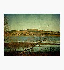 Afternoon on Dangars Lagoon, Northern Tablelands, NSW, Australia Photographic Print