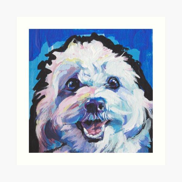 Fun Cavachon Dog bright colorful Pop Art Art Print