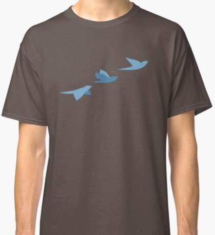 Blue birds of peace. Classic T-Shirt