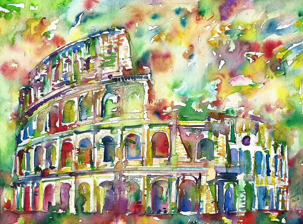COLOSSEUM - watercolor painting by lautir