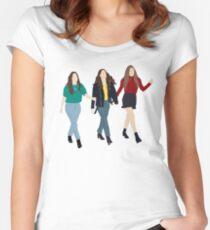 Camiseta entallada de cuello ancho Haim