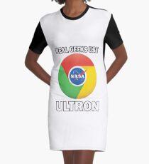 Google Ultron T-Shirt - Real Geeks use ULTRON Graphic T-Shirt Dress