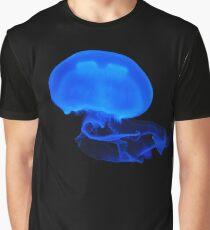 Blue Jellyfish Beautiful Ocean Wildlife Biology Animal Art Graphic T-Shirt