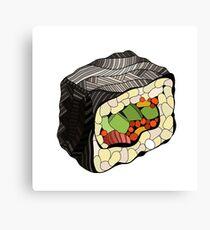 Sushi illustration Canvas Print