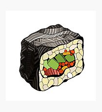 Sushi illustration Photographic Print
