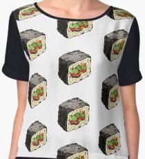 Sushi illustration Women's Chiffon Top