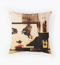 Marylin smokes Winston Throw Pillow