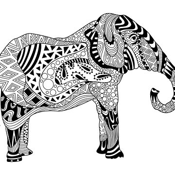 Elephant Drawing by LidiaP