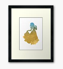 Princess Inspired Silhouette Framed Print