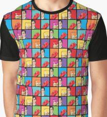scotch & gummy bears pattern Graphic T-Shirt