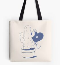 Cactus and Balloon Blue Purple Tote Bag