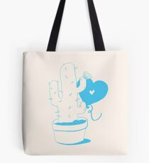 Cactus and Balloon LightBlue Tote Bag