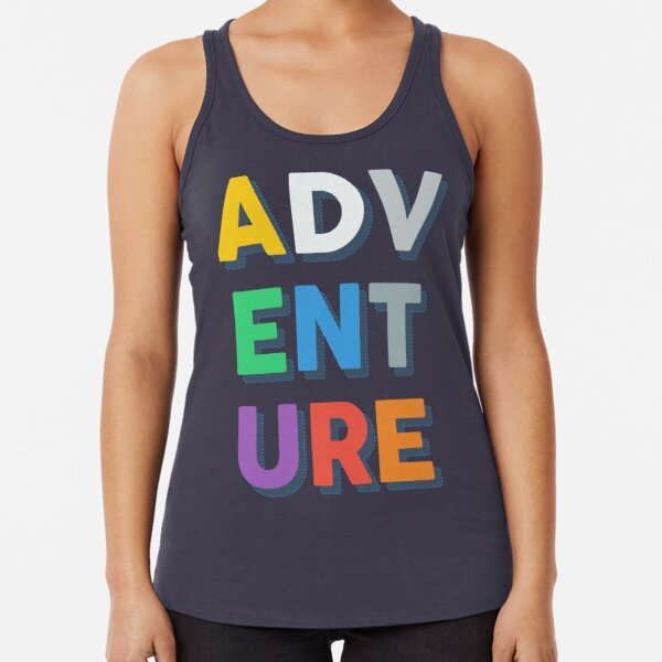 ADV-ENT-URE Travel Typography Racerback Tank Top
