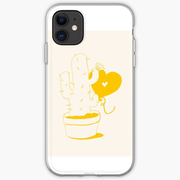 Cactus and Balloon Yellow iPhone Soft Case