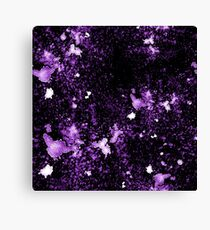 Space watercolor pattern with colorful spray  Canvas Print
