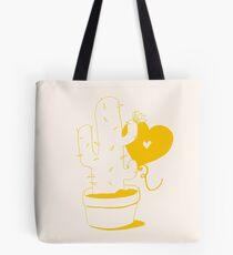 Cactus and Balloon Yellow Tote Bag