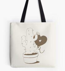 Cactus and Balloon Brown Tote Bag