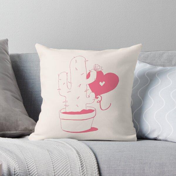 Cactus and Balloon Throw Pillow