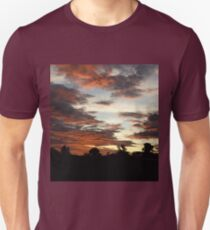 Tropical Twilight - Orange Belly Blanketed Cloudscape  T-Shirt