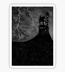 Haunted House & Lightning Storm Sticker