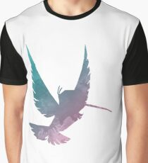 Bird Inspired Silhouette Graphic T-Shirt