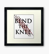 Bend The Knee Lord shirt, dragon tshirt, sword tee Framed Print