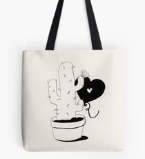 Cactus and Balloon in love Tote Bag