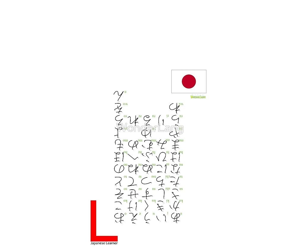 Japanese Learner - Hiragana by WonderLang