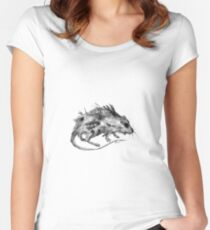 Dissolving Women's Fitted Scoop T-Shirt