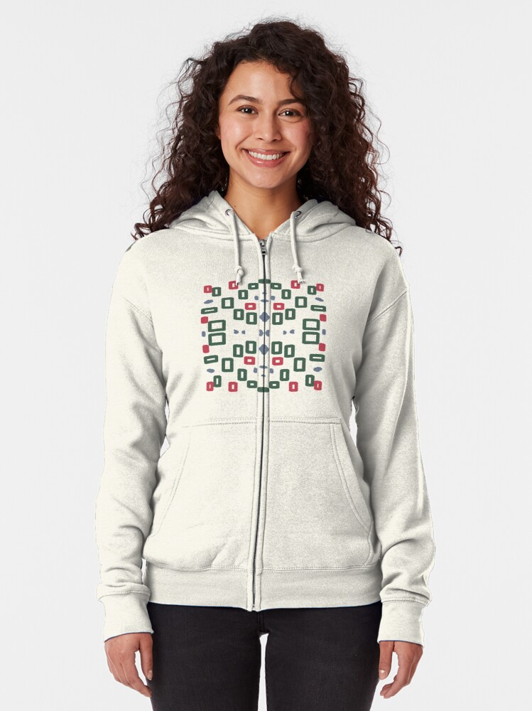 Alternate view of Rectangle space Zipped Hoodie