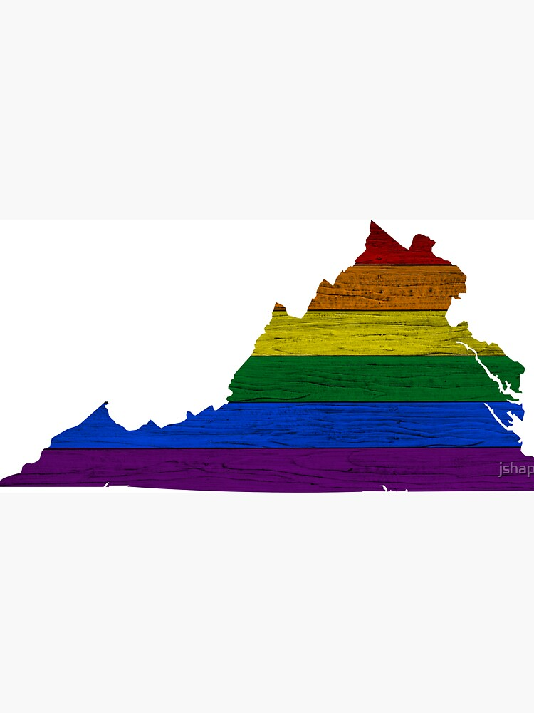 Rainbow Virginia on Wood by jshap
