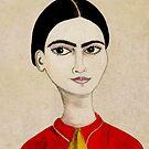 Frida Kahlo portrait by Nadine Feghaly