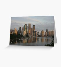 River city sunrise - Brisbane Greeting Card