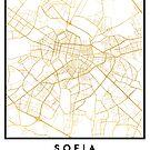 SOFIA BULGARIA CITY STREET MAP ART by deificusArt