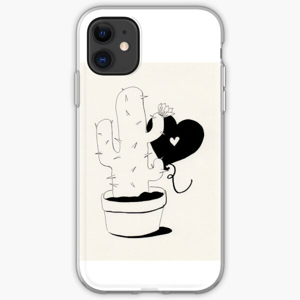 Cactus and Balloon in love iPhone Soft Case