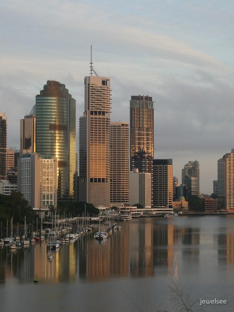River city sunrise - Brisbane by jewelsee