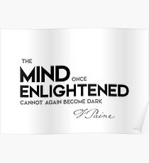 mind enlightened - thomas paine Poster