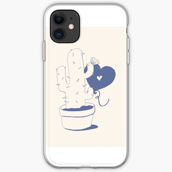 Cactus and Balloon Blue Purple iPhone Soft Case