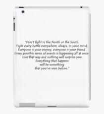 Fight Every Battle - black iPad Case/Skin