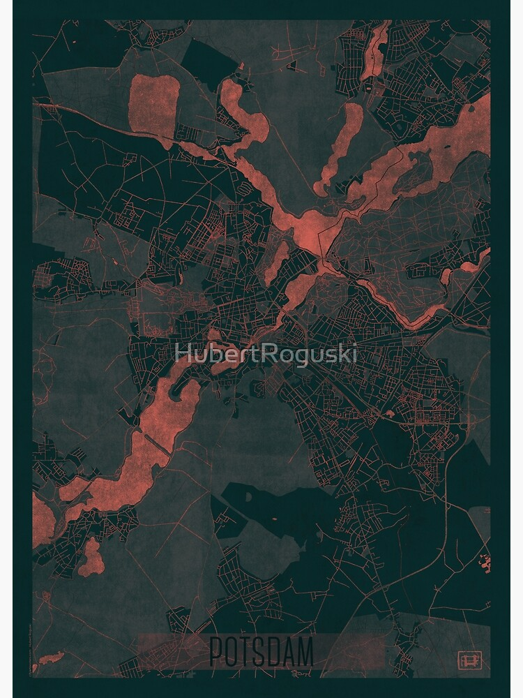 Potsdam Map Red by HubertRoguski