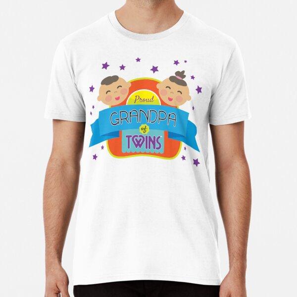 Proud Grandpa (boy/girl twins) Premium T-Shirt