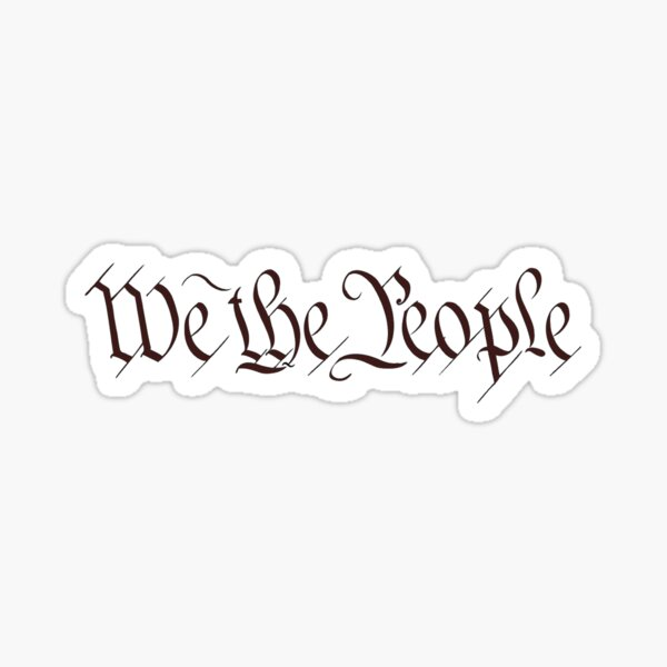 America, American, We the People, United States Constitution, Congress, Pure & Simple. Sticker