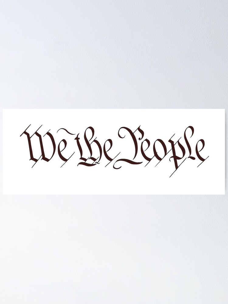 White Graphics /& More American Flag Independence Day July 4th-We The People USA Constitution