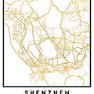 SHENZHEN CHINA CITY STREET MAP ART by deificusArt